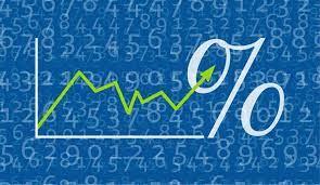 simbolo percentuale su asse cartesiano